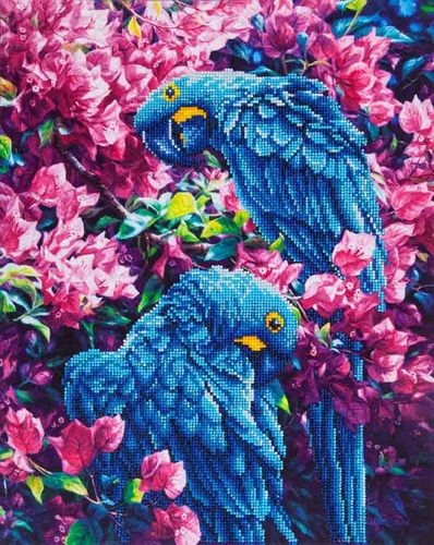 Diamond Dotz - 52x42cm - Blue Parrots - DD10.002