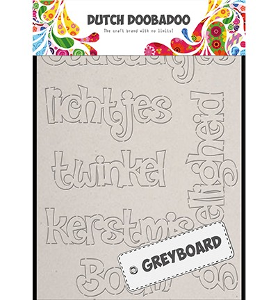 Dutch Doobadoo - Dutch Greyboard Art - Christmas A6