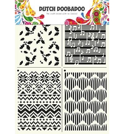 Dutch Doobadoo - Dutch Mask Art A4 - Multistencil X-mas