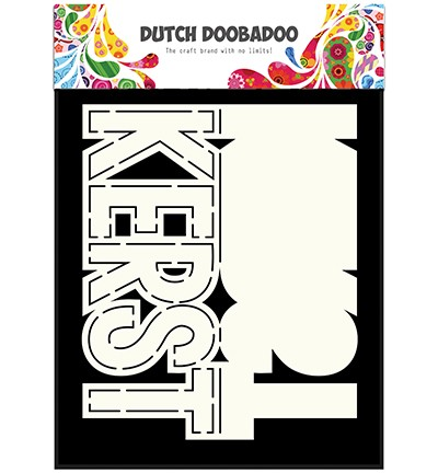 "Dutch Doobadoo - Dutch Card Art - Text ""Kerst"""