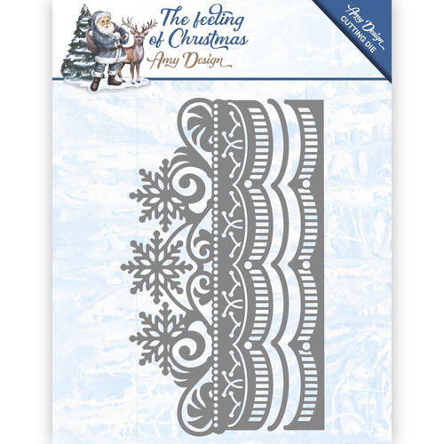 Stansmal Amy Design - The feeling of Christmas - Ice crystal border