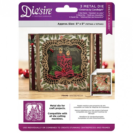 Stansmal Die`sire - Xmas Create A Card - Christmas by Candlelight