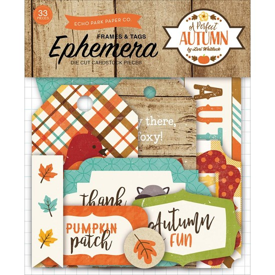 Echo Park - A Perfect Autumn - Frames & Tags