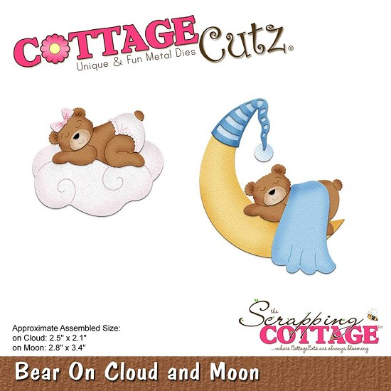 Stansmal Cottage Cutz - Bear on Cloud & Moon