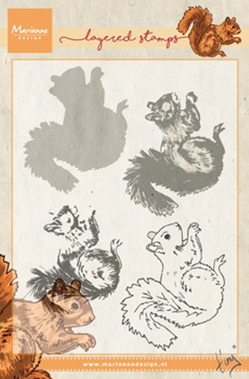 Marianne Design - Clearstamp Layering - Tiny`s Squirrel