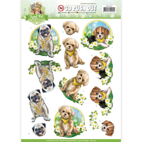 Pushout - Amy Design -  Sweet Pet-Dogs