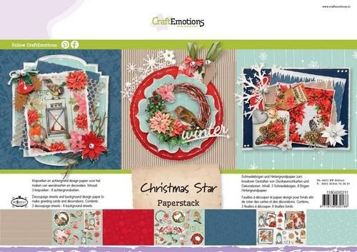 CraftEmotions - Paperpad - Christmas Star