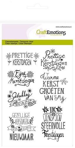 CraftEmotions - Clearstamp - Kerst Handlettering