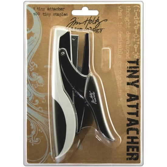 "Tim Holtz - Idea-Ology - Tiny Attacher Stapler W/(100) .25"" Staples"