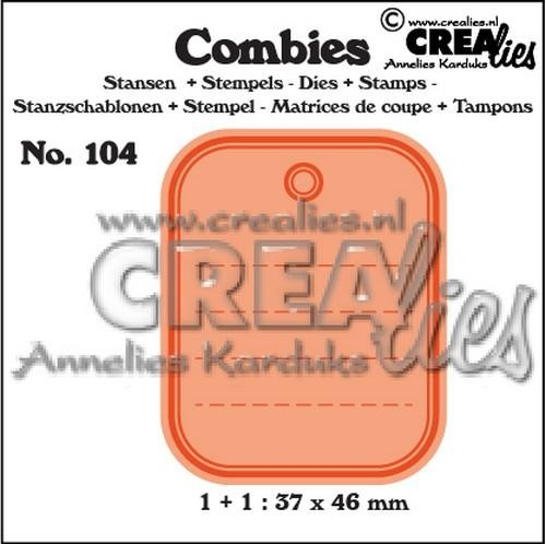 Stansmal - Crealies - Combies - Nr 104 Tag A