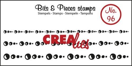 Clearstamp - Crealies - Bits & Pieces - nr 96 Circles in Lines