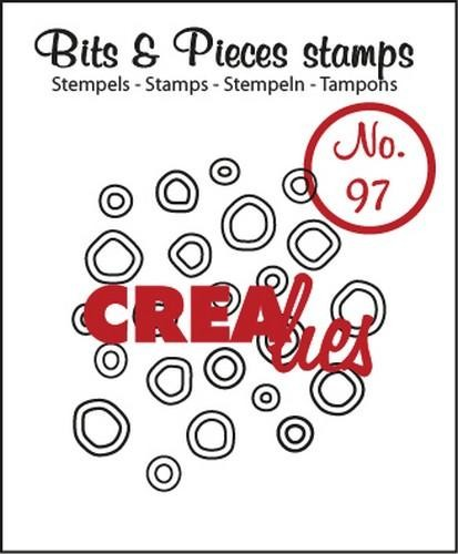 Clearstamp - Crealies - Bits & Pieces - nr 97 Double Circles