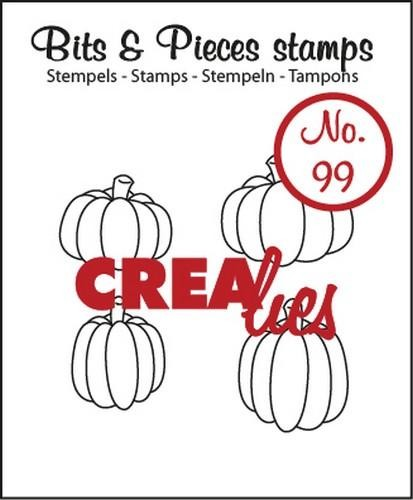 Clearstamp - Crealies - Bits & Pieces - nr 99 Pumpkins