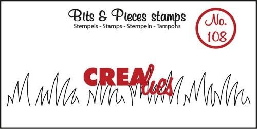 Clearstamp - Crealies - Bits & Pieces - nr 108 Grasrand medium