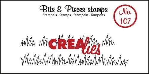 Clearstamp - Crealies - Bits & Pieces - nr 107 Grasrand small
