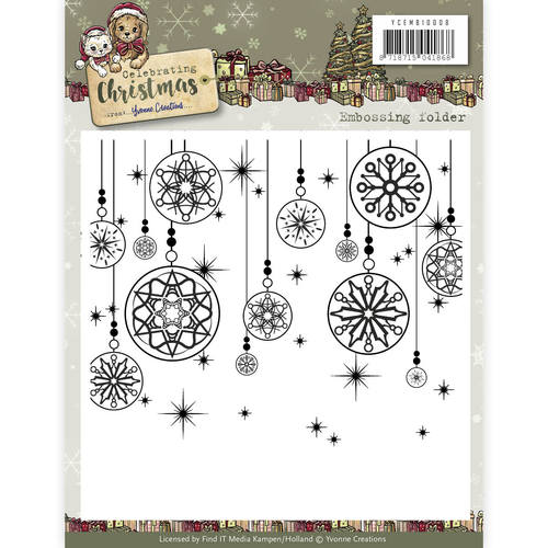 Embossingfolder - Yvonne Creations - Celebrating Christmas