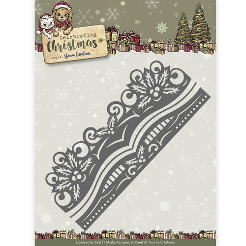 Stansmal Yvonne Creations - Celebrating Christmas- Holly Border