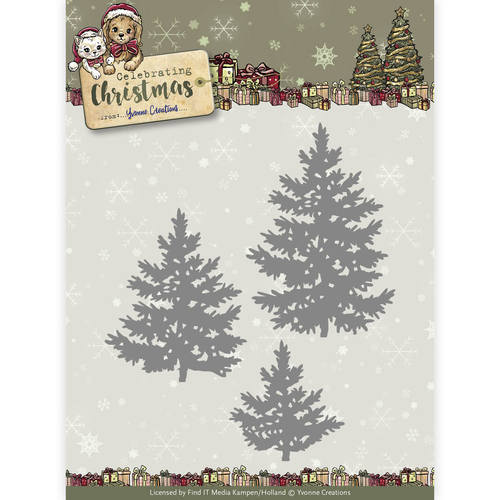 Stansmal Yvonne Creations - Celebrating Christmas- Pine Trees