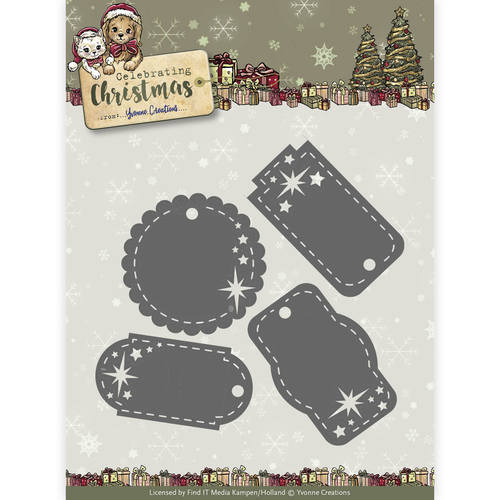 Stansmal Yvonne Creations - Celebrating Christmas- Star Tags