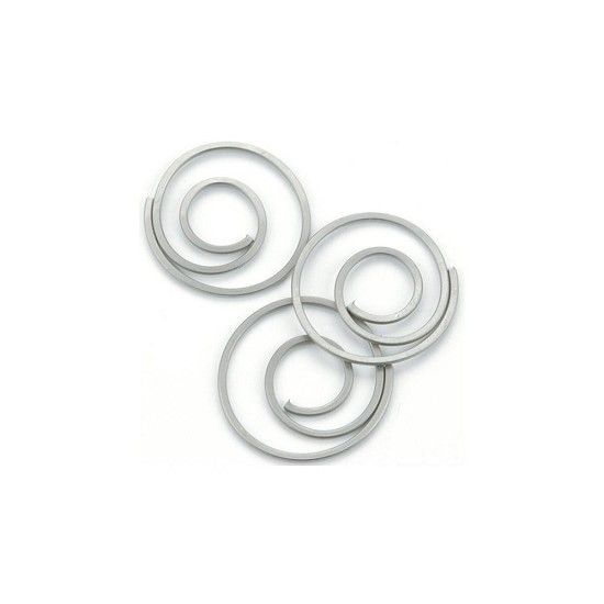 Creative Impressions - Clips - Mini Metal Spiral Clips - Pewter
