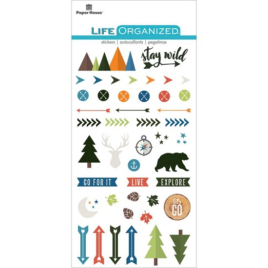Paper House - Life Organized Epoxy Stickers - Outdoors