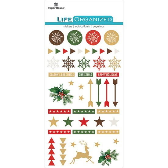 Paper House - Life Organized Epoxy Stickers - Christmas