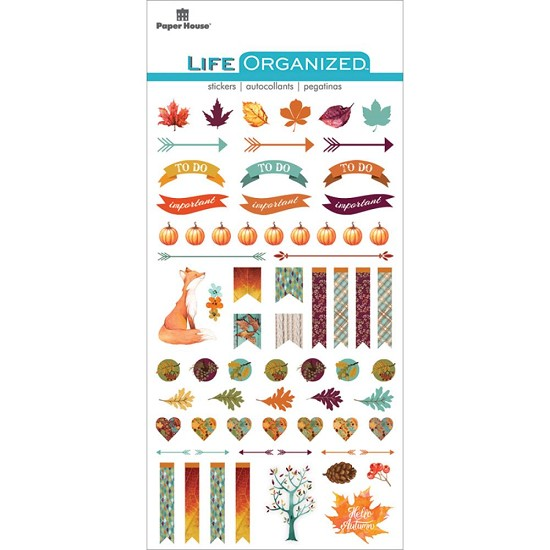 Paper House - Life Organized Epoxy Stickers - Autumn Woods