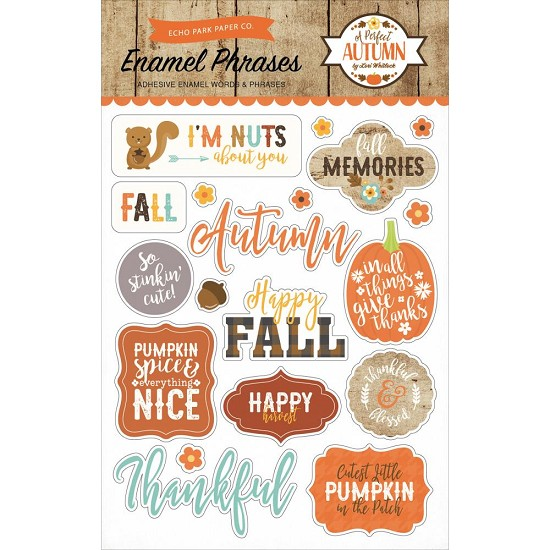 Echo Park - A Perfect Autumn - Adhesive Enamel Words & Phrases