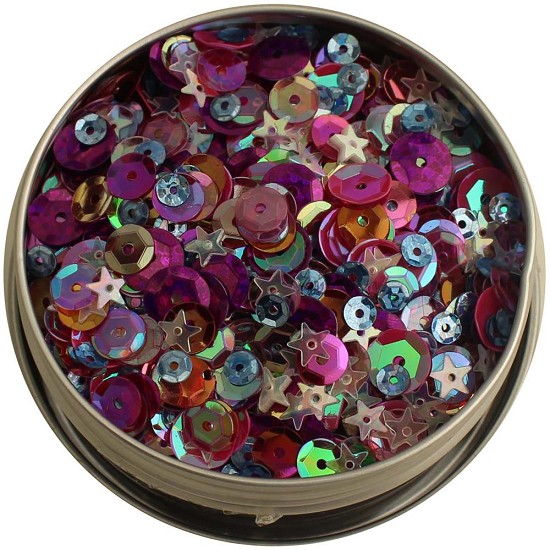 28 Lilac Lane - Tin with Sequins 40g - Mixed Berry