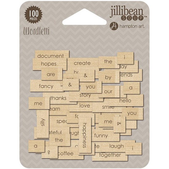 Jllibean Soup - Printed Wood Wordfetti 100/Pkg
