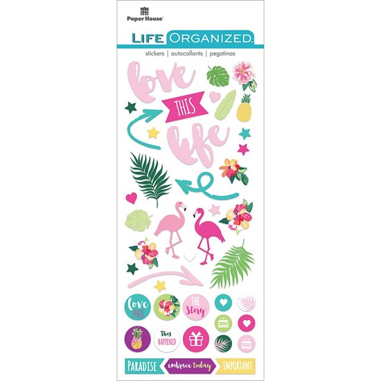 Paper House - Life Organized Puffy Stickers - Free Spirit