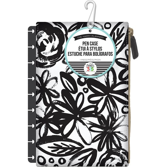 Me & My Big Ideas - Create 365 Happy Planner - Pen Case - Bold Black W/Flowers
