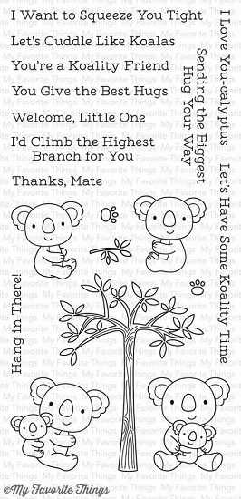 Clearstamp - My Favorite Things - Cuddly Koalas