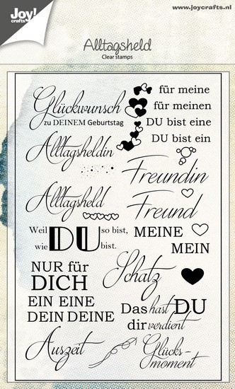 Joy! Crafts - Clearstamp - Spreuken DE Alltagsheld