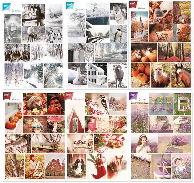 Noor! Design - Vintage plaatjes - Set Season Greetings