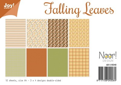 Noor! Design - Paperpad A4 - Falling Leaves