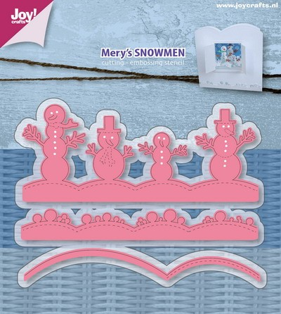 Joy! Crafts - Cutting & Embossing stencil - Mery`s Sneeuwmannen