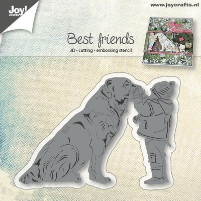 Joy! Crafts - Cutting & Embossing stencil - Hond met kind