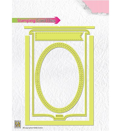 Stansmal Nellie Snellen - Stamping card dies: Oval