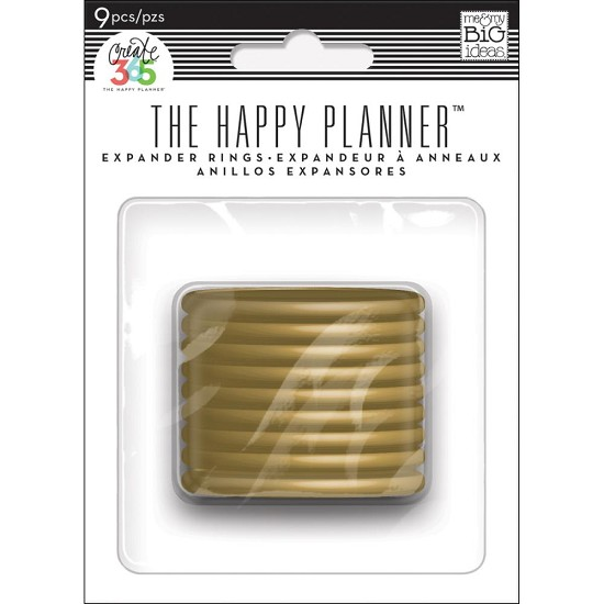 Me & My Big Ideas - Create 365 Happy Planner - Expander Rings Gold 1,75""