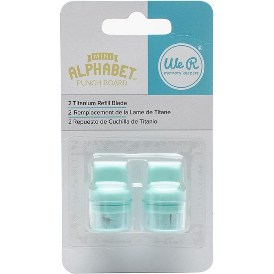We R Memory Keepers - Mini Alphabet Punch Board - Blade Refill 2/Pkg