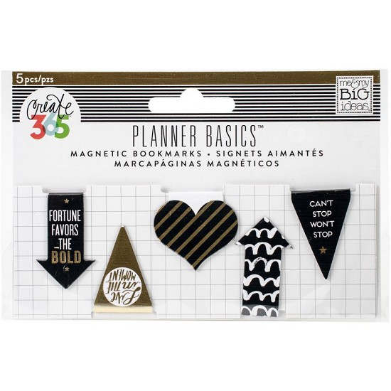 Me & My Big Ideas - Create 365 Happy Planner - Mini Magnetic Clips Gold
