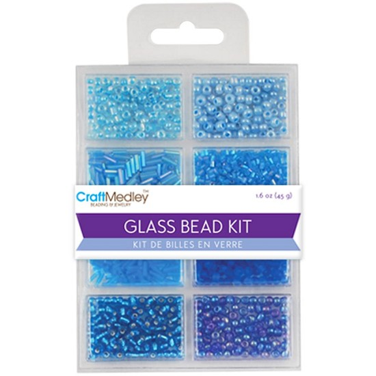 Schudmateriaal - Glass Bead Kit - The Blues