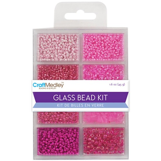 Schudmateriaal - Glass Bead Kit - Blush