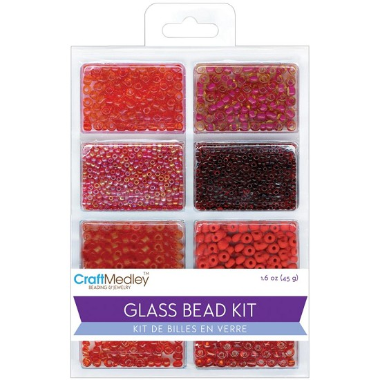 Schudmateriaal - Glass Bead Kit - Rouge