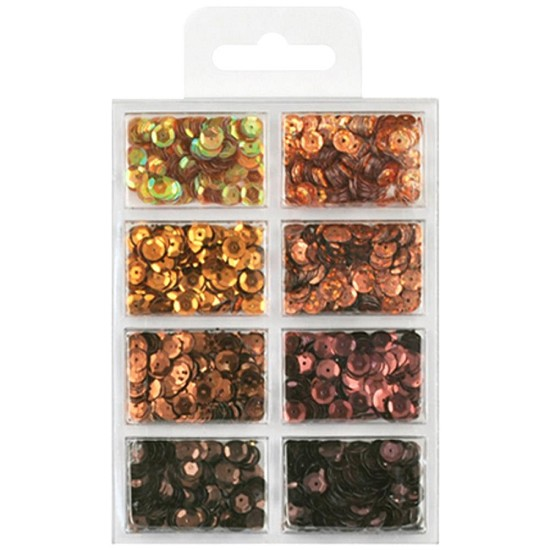 Schudmateriaal - Sequin Mix Kit - Box of Chocolate