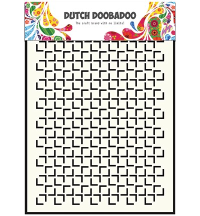 Dutch Doobadoo - Dutch Mask Art - A5 Geomatric Square
