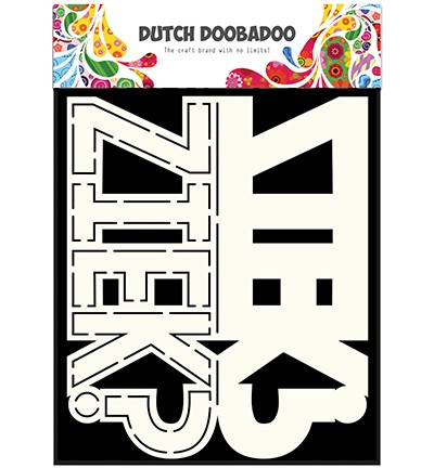Dutch Doobadoo - Dutch Card Art - Tekst Ziek?