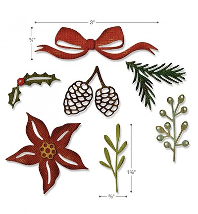 Stansmal Sizzix - Thinlints - Festive Greens