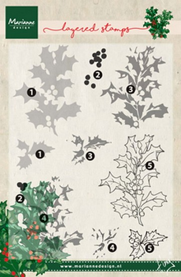 Marianne Design - Layering Stamps - Tiny`s Holly